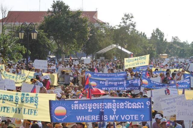 20.000 Anhänger der Opposition demonstrierten am Samstag friedlich gegen das offizielle Ergebnis der Wahlen vom 28. Juli. Für die kommenden Wochen wurden bereits weitere Kundgebungen angekündigt. (Foto: PRKN)