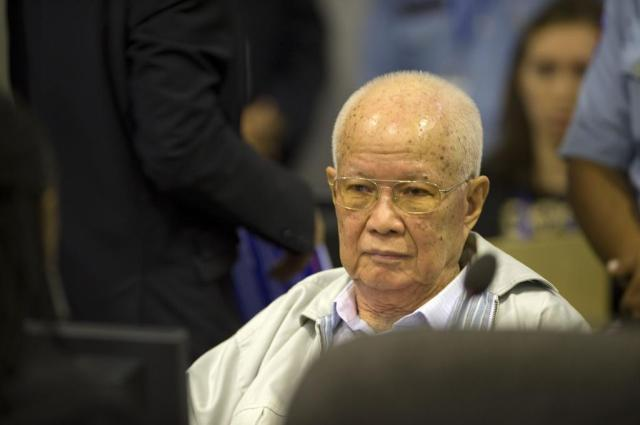 Schuldig: Khieu Samphan. (Foto: ECCC)