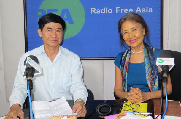 Sie kennen und schätzen sich: Hang Puthea (l.) und Pung Chhiv Kek. Foto: Radio Free Asia