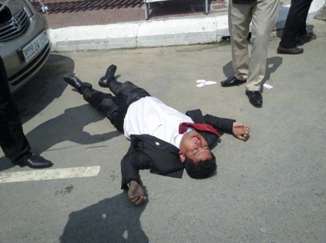 Nhay Chamroeun, eines der beiden Opfer vom 26. Oktober.